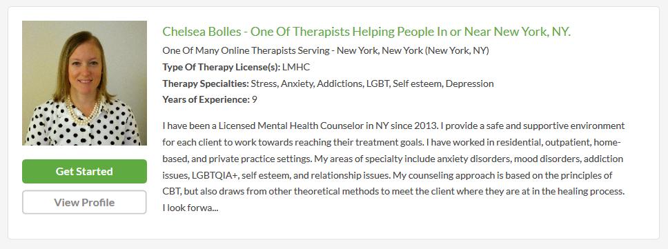 betterhelp therapist profile